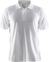 Craft Classic Polo Pique t-shirt wit Maat M