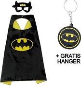 Batman cape + masker Vleermuisheld Bat man kostuum superheld cape verkleed pak + GRATIS tas/ sleutel hanger