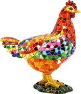 Barcino design mozaiek beeld kip