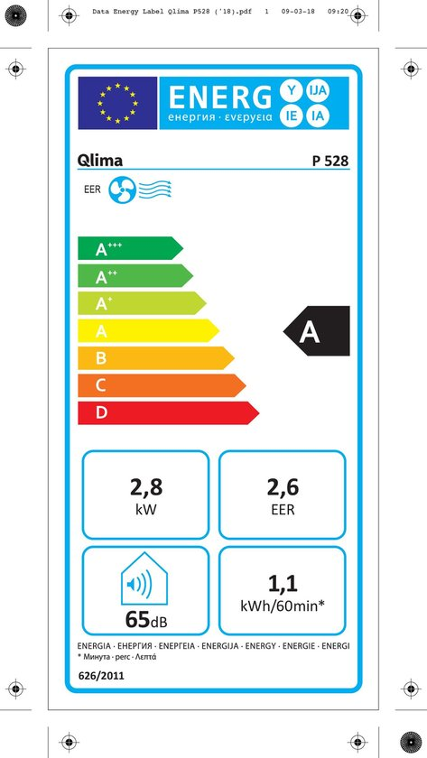 Qlima P 528 - Mobiele airco - Wit