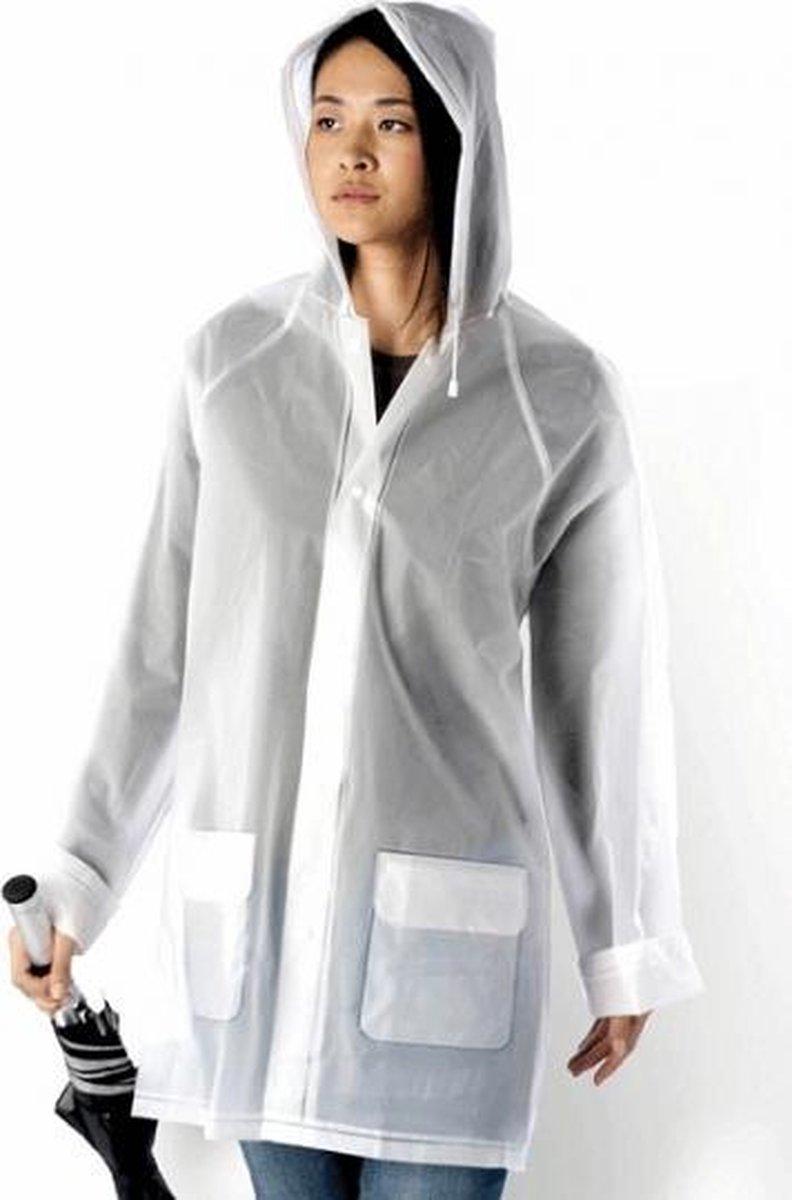 Transparante regenjas met capuchon