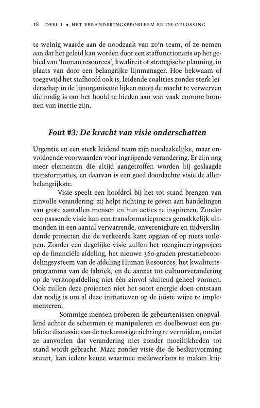 Academic Service economie en bedrijfskunde - Leiderschap bij verandering - J.P. Kotter