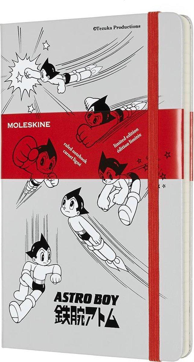 Moleskine Limited Edition Notitieboek- Astro Boy Large Gelinieerd Light Grey