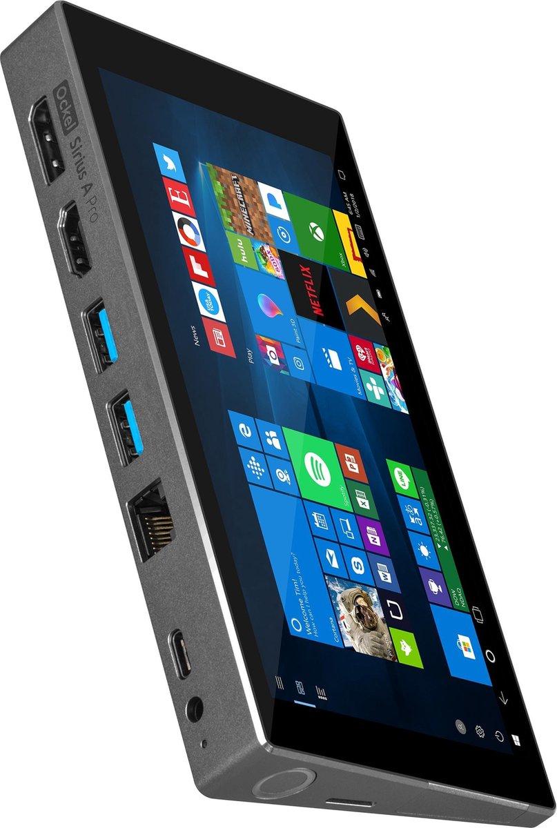 Ockel Computers Sirius A Pro 1,60 GHz Intel® Atom™ x7-Z8750 Grijs Mini PC