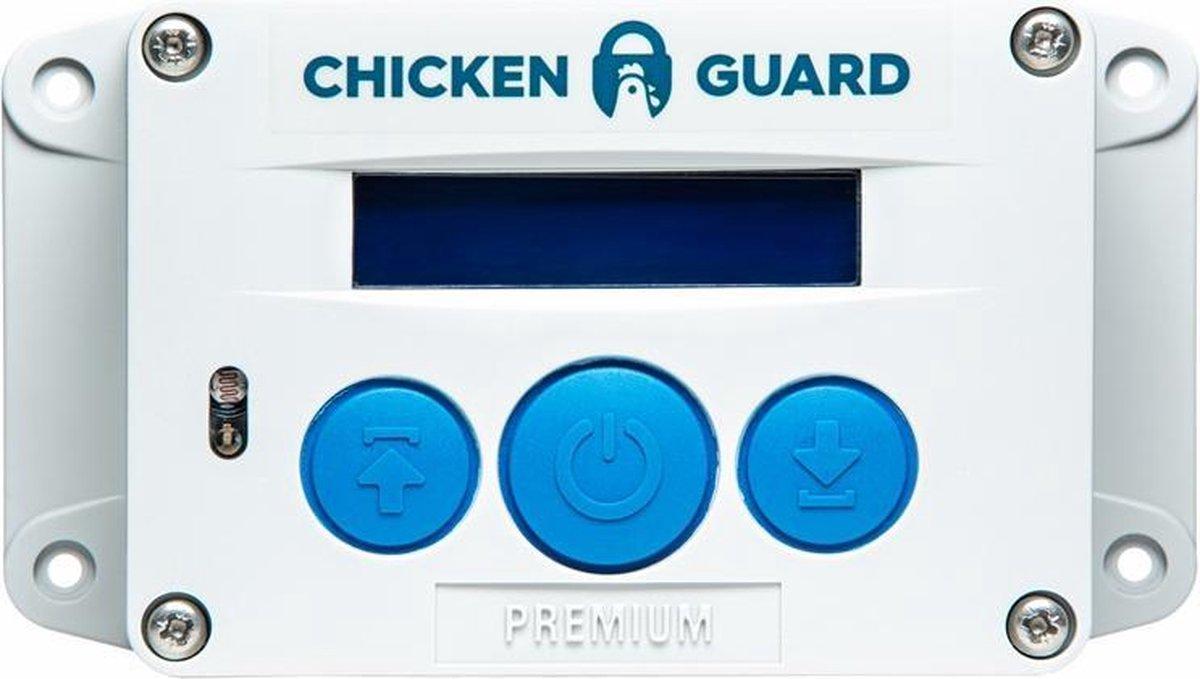 Chickenguard Premium Automatische hokopener op batterijen - met ingebouwde lichtsensor en timer