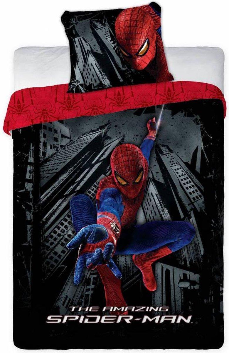 Spiderman dekbedovertrek - Zwart - eenpersoons - 140x200 cm + 1 sloop - Spider-Man