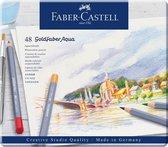 Aquarelkleurpotlood Faber-Castell Goldfaber etui 48 stuks