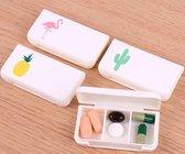Mini-Pillendoos Cabantis|Mini-Pillen Organizer|Mini-Medicijn Doosje|Flamingo