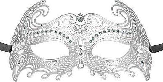 Sea Goddes Masquerade Mask - Silver