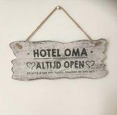 Houten Tekstbord Woon Decoratie Cadeau Hotel Oma