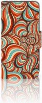 Samsung Galaxy S4 Mini i9190 Wallet Book Case Hoesje Design Retro