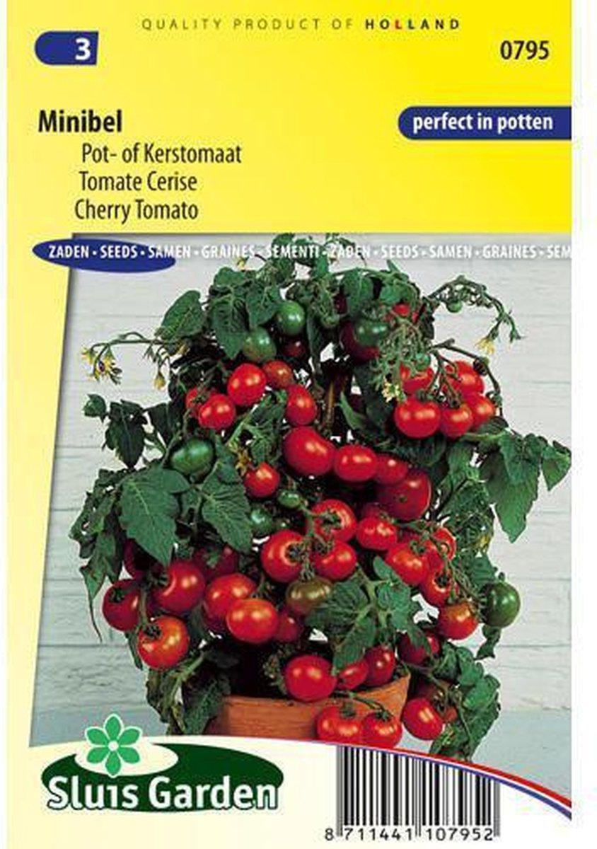 Sluis Garden - Kerstomaat, Pottomaat Minibel