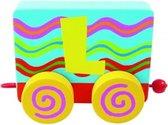 Tatiri Houten letter: treinalfabet l