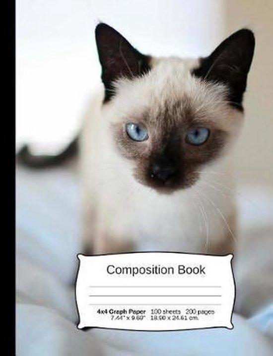 Cat Composition Notebook, Graph Paper