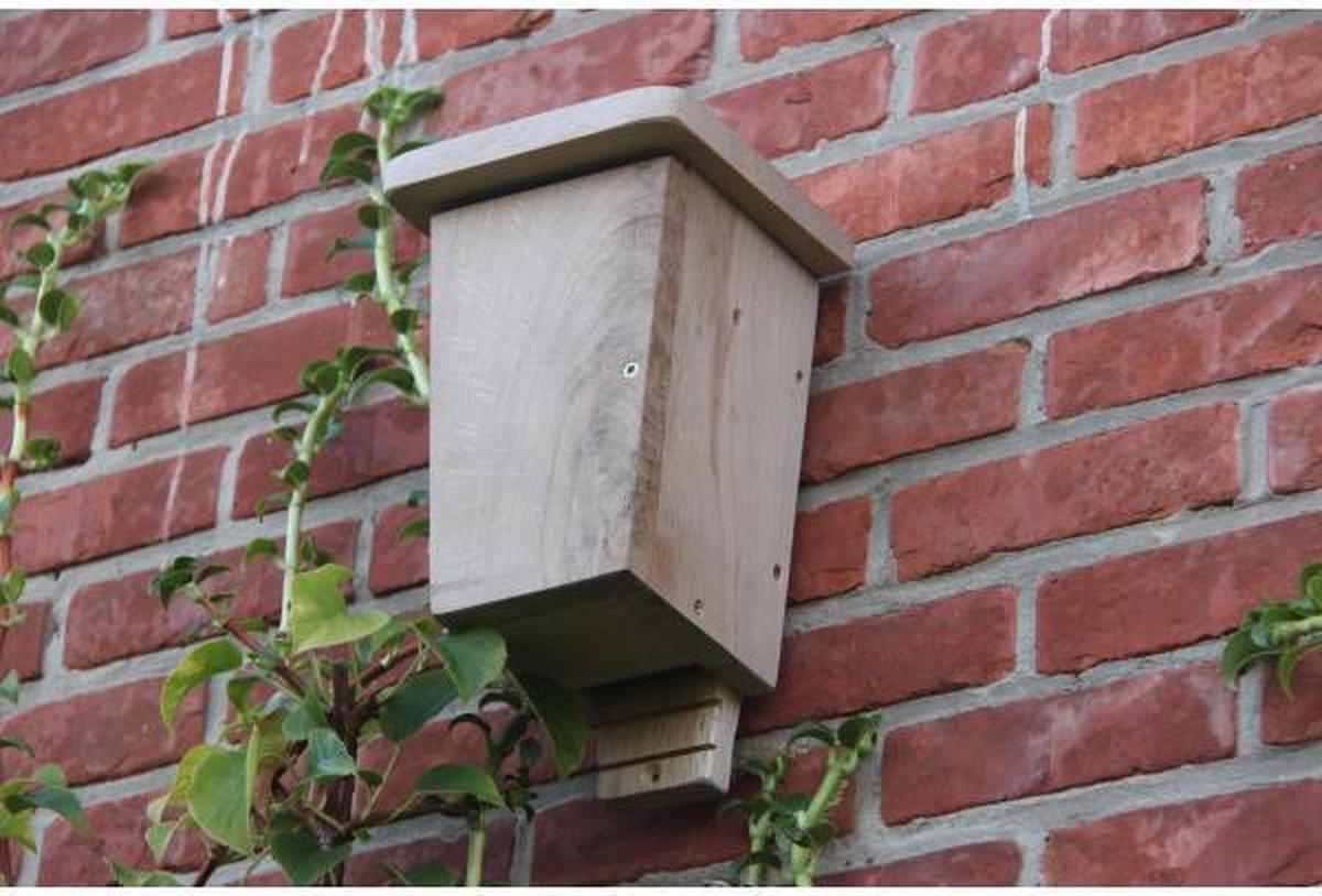 Wildlife World Vleermuiskast, Nestkast voor vleermuizen met dubbele kamer gemaakt van FSC hout, Vlee