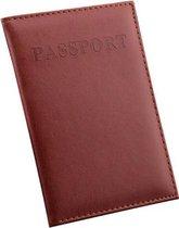 Bruine leren Paspoorthouder - Paspoort Hoesje - Cover - Mapje