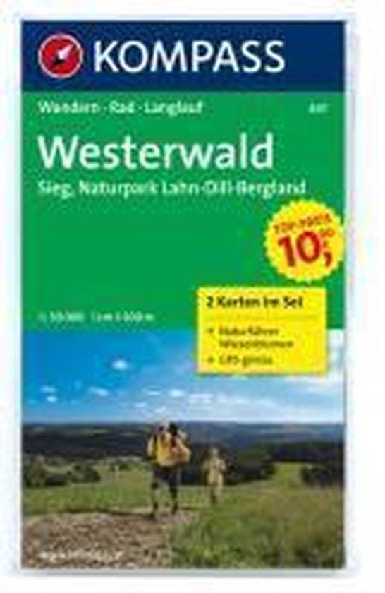 Kompass WK847 Westerwald, Sieg, Naturpark Lahn-Dill-Bergland - Kompass  