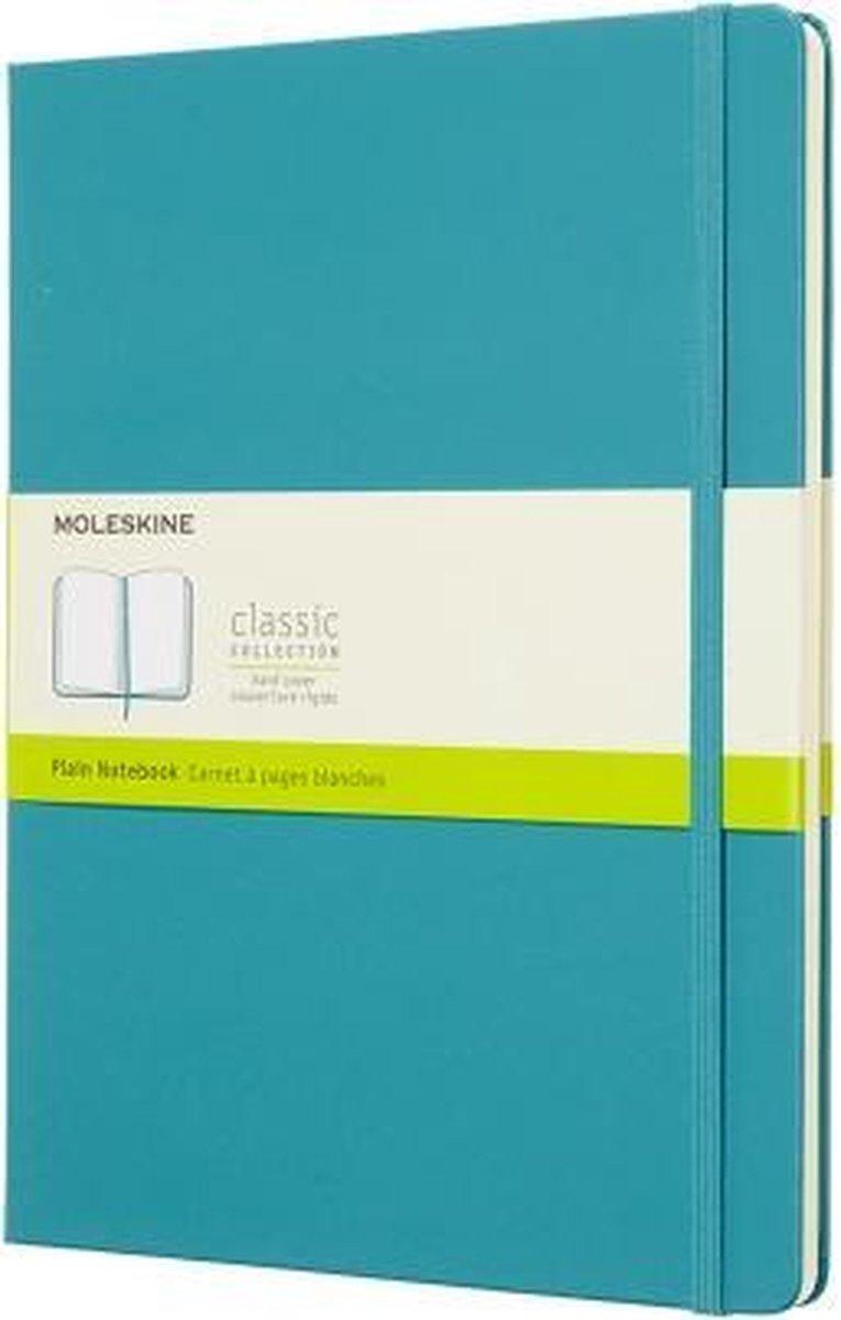Moleskine Classic Notitieboek Hard Cover - XL - Blauw - Blanco