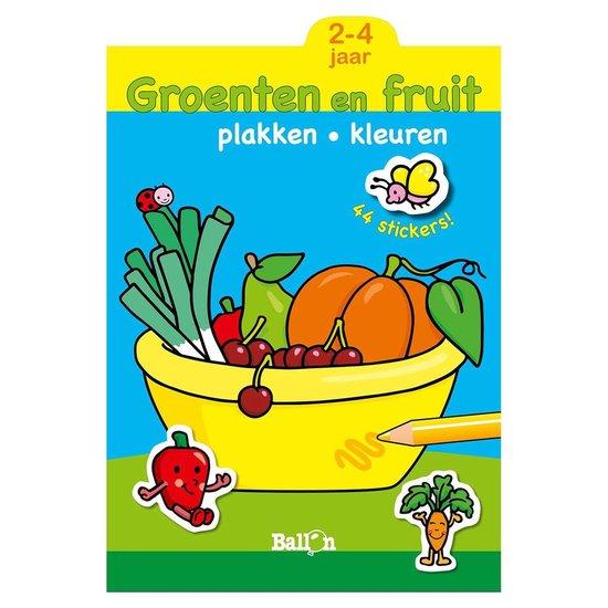 Plakken en Kleuren: Groenten en Fruit. 2-4 jaar - Plakken en kleuren |