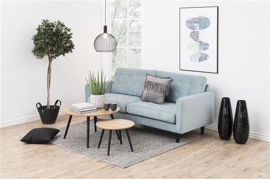 Staff salontafel rond essen decor met zwarte poten Ø50 cm.