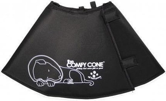 Comfy Cone Hondenkap Zwart XS 23-27 CM / 11 CM HOOG