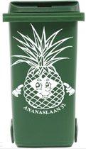 Sticker ananas voor kliko container met straatnaam & huisnr   Rosami