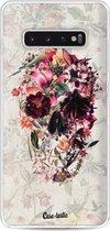 Samsung Galaxy S10 Plus hoesje Flower Skull Casetastic Smartphone Hoesje softcover case