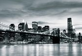 Fotobehang City Brooklyn Bridge New York City | XXXL - 416cm x 254cm | 130g/m2 Vlies