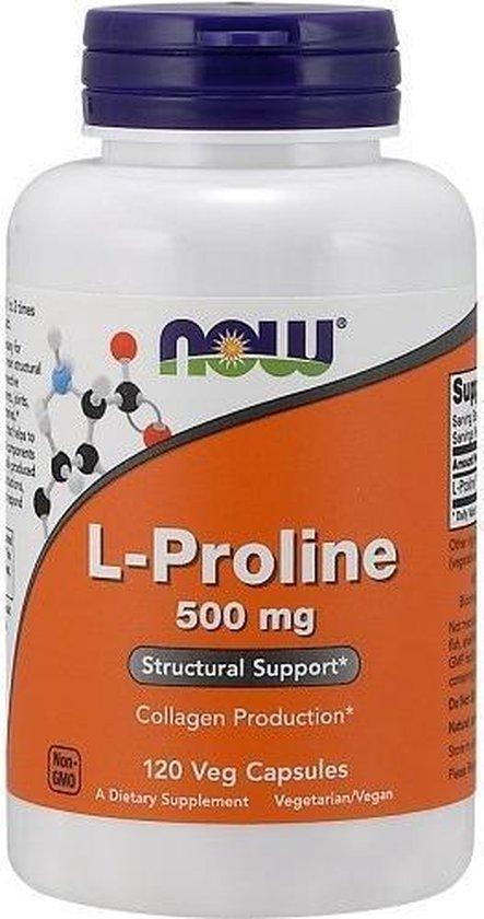 L-Proline 500mg Now Foods 120v-caps