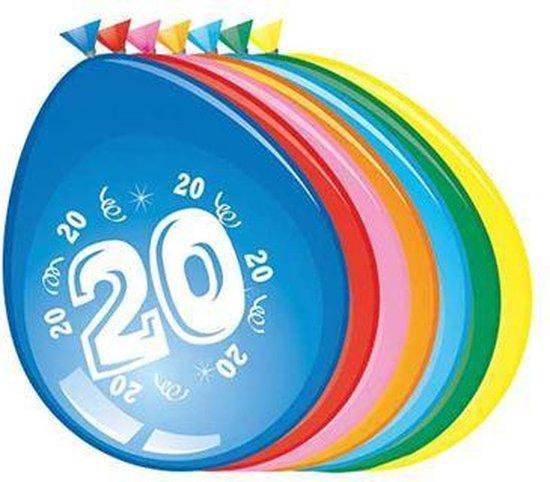 Ballonnen 20 jaar - 30cm - 8st
