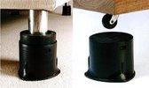 Adhome Meubelverhogers in hoogteverstelbaar 3,8-10 cm - set van 4 stuks