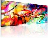 Schilderij - Dans van de regenboog, Multi-gekleurd