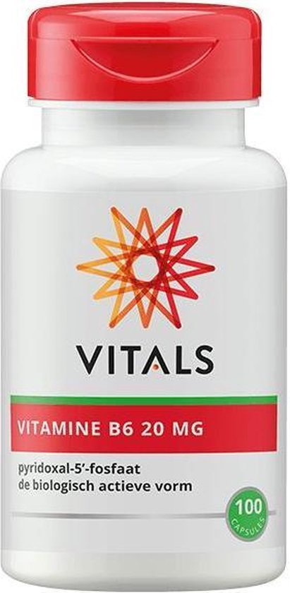 Vitals Vitamine B6 20 mg Voedingssupplementen - 100 vegicaps