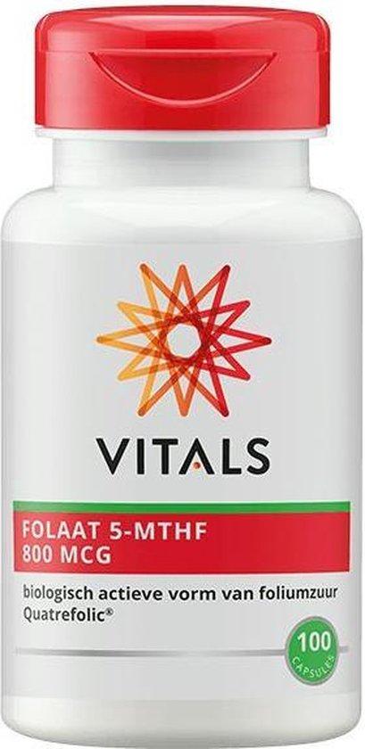 Vitals Foliumzuur 5-MTHF 800 mcg Voedingssupplement - 100 capsules