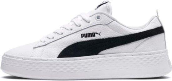 Puma Smash Platform L wit sneakers dames (366487-12)