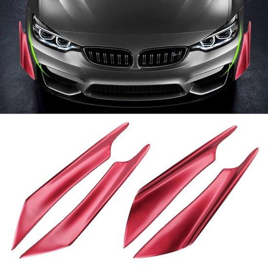 4 STKS Auto-Styling Flank Decoratieve Sticker (Rood)