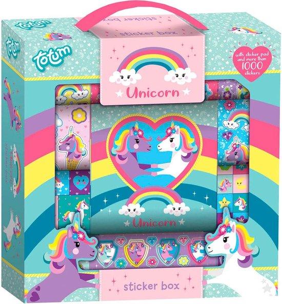Totum Unicorn Sticker Box 12R+2S+BKL kindersticker