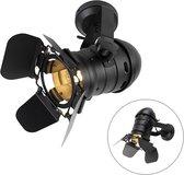 QAZQA movie - Wandlamp - 1 lichts - L 380 mm - Zwart
