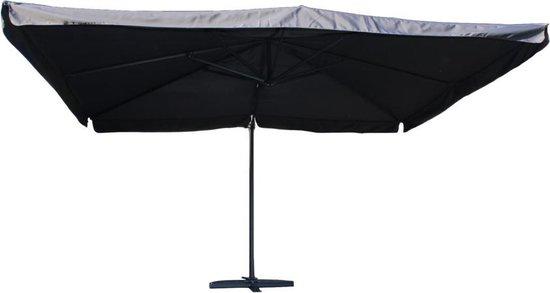 Tuindeco Brest Parasol - zweefparasol - 300 x 400 cm - antraciet