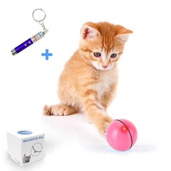 TwinQ Magische Bal Interactief Speelgoed Hond/Kat - Speelgoed Voor Dieren - USB oplaadbaar - Roze