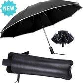 Storm Paraplu Opvouwbaar met Automatisch uitklapsysteem - tot 100 km/h windbestendig - 105 cm - Storm Paraplu Volwassenen - Luxe hoes