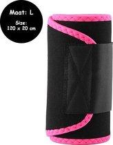 Sauna belt – Waist trainer – Afslank gordel band – Roze – L - Waist shaper – Buik trainer – Sauna band – Afslank band – Corset – Afslank riem – Fitness steunband – Afvalband – Zweetband – Sweat belt – Afslankband – Buikband – Body shaper  – Unisex