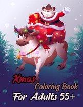 Xmas Coloring Book Adults 55+