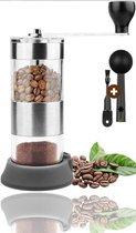 YUGN Handmatige Koffiemolen en Koffiemaler - Fijne Koffie Bonenmaler en Makkelijk Mee Te Nemen - Geniet Van De Lekkerste Kopjes Koffie - Gratis Lepel en Borstel