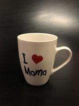 "beker  | ""I ♥ Mama | creme | 36cl"