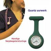 4-Stuks Verpleegstershorloge met Veiligheidsspeld in het Groen Kleur