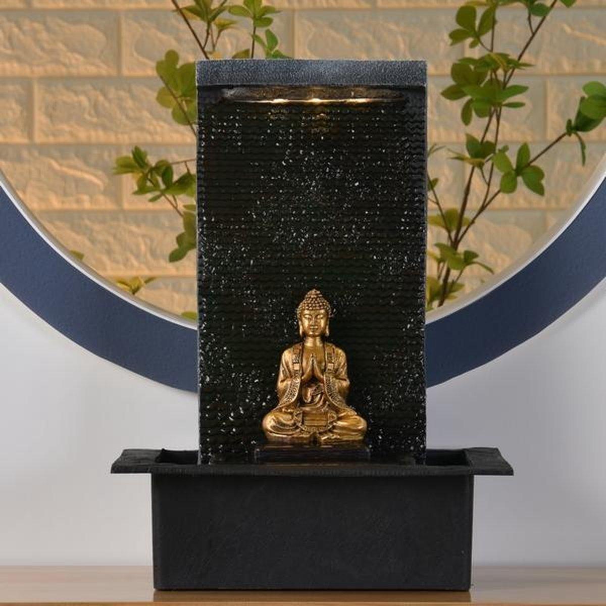 Boeddha Zenitude Relax - fontein - interieur - fontein voor binnen - relaxeer - zen - waterornament - cadeau - geschenk - relatiegeschenk - origineel - lente - zomer - lentecollectie - zomercollectie - afkoeling - koelte