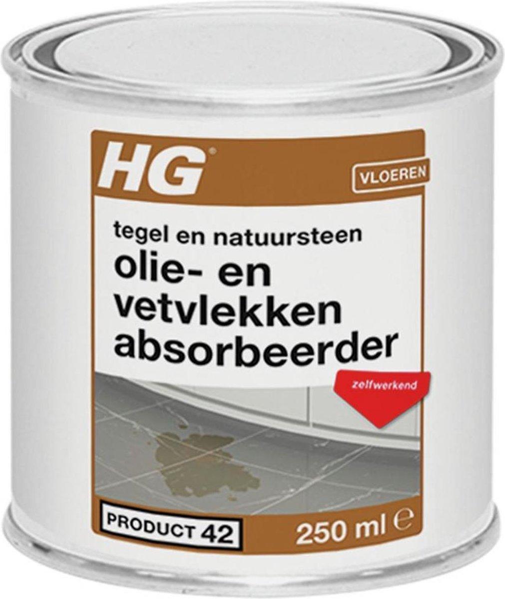 HG olie- & vetvlekken absorbeerder (HG product 42) - 250ml - zelfwerkend