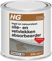 HG olie- & vetvlekken absorbeerder (HG product 42) - 250ml - voor tegels & natuursteen