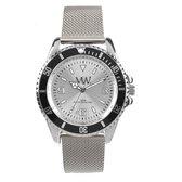 """Meye Watch """"007"""" Nato zilverkleurig met zwart horloge"""